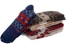 Christmas Snowflake Deer Design Womens Wool Socks Warm Winter Cute Comfortable