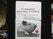 "FARM BUREAU CO-OP ADVERTISING ""HAND BOOK FOR HOG RAISERS"" FOR 1956 SWINE FARM"