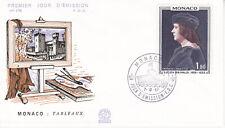 Enveloppe 1er jour FDC n°178 1967 - Monaco Tableau de Lucien Grimaldi