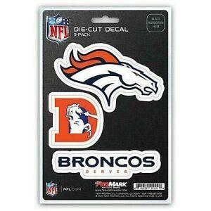 Denver Broncos NFL Die-Cut Decal 3 Pack