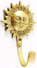 Sun Wall Hook Antique Finish Handmade Brass Key Chain Towel Cup Cap Wall Hanger