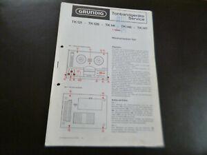 Original Service Manual Schaltplan Grundig TK 121 TK 126 TK 141 TK 146 TK 147
