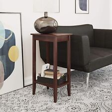 Elegant Narrow Tall End Table Furniture Wood Accent Vintage Multifunctional