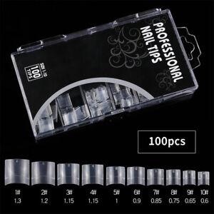 100Pcs Short Square Nail Tips French Half Cover Artificial Acrylic False Na MN