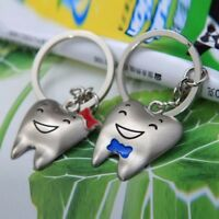 Gifts Bowknot Tooth Shaped Key Fob Couple's Key Chain Key Ring Key Chain