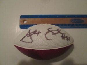 small foam football - signed by # 81 Alex Smith of Tampa Bay Buccaneers