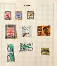 Collection of Sudan Stamps on a page