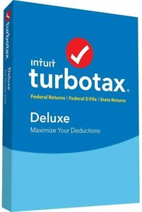 Intuit Turbotax Deluxe + State 2018, New