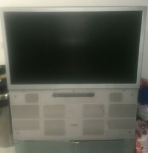 Used Toshiba Tv Silver With Built in DVD Player and Stereo 46 inches