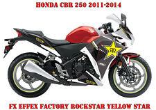 FX EFFEX FACTORY DEKOR GRAPHIC KIT HONDA CBR 250,600RR,1000RR ROCKSTAR Y. STAR B