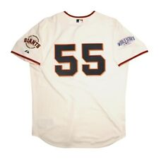 Tim Lincecum San Francisco Giants Authentic 2014 World Series Home Jersey 52
