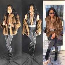 Designer Barguzin Zandra Rhodes Russian sable Fur Coat jacket bolero S-6 $40000+