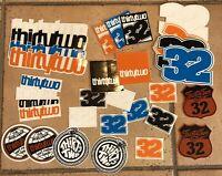 32 Snowboard Sticker Lot Thirty Two Boots Burton Forum Technine Forum Etnies DC