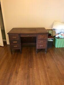 Antique Hide-Away Flip Top Desk