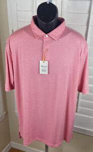 Peter Millar Crown Sport LANAI Golf Polo Shirt MS19EK91S, Men's Size XL, NWT $89