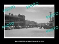 OLD POSTCARD SIZE PHOTO OF DAYLESFORD VICTORIA VIEW OF VINCENT STREET c1950