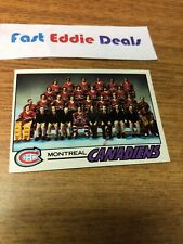TOPPS HOCKEY 1977-78 MONTREAL CANADIENS TEAM CHECKLIST CARD 80 UNMARKED