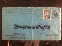 1920 Mexico City Mexico Commercial Cover To Chicago USA Montgomery Ward Co