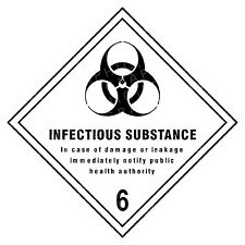 Infectious Substance 6 Hazard Warning Labels Stickers COSHH PPE