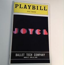Playbill 2000 Ballet Tech Company Joyce Theatre NYC Theater Eliot Feld