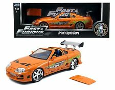 JADA 1:18 FAST & FURIOUS - BRIAN'S TOYOTA SUPRA WITH REMOVABLE ROOF Diecast Car