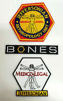 "Bones TV Series Jeffersonian Anthropology Unit Logo 3""-5""  Patch Set of 3"