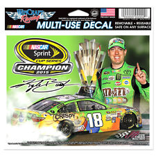 "2015 CHAMPION KYLE BUSCH #18 M&Ms CRISPY RACING NASCAR MULTI-USE DECAL 6"" X 4"""