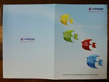 Malaysia Airlines Business Class Note Pad Aviation Flight early 2000