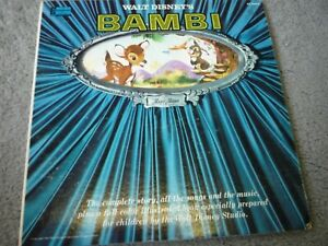 Walt Disney's BAMBI LP and book Disneyland ST-3903 from 1960 window cover