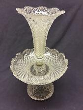 Val Saint Lambert - Etagère, coupe cornet en cristal Diamants Pierreries