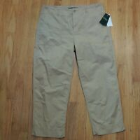 Ralph Lauren Tan Cropped Pants Womens Size 10 NEW $90
