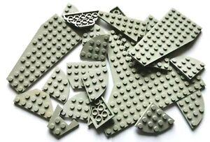 LEGO® Basic 20 Stück Bauplatten Flügelplatten in alt-hellgrau Konvolut
