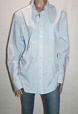 HIGHLANDER Designer Mens Blue Cotton Long Sleeve Shirt Size L BNWT #SL88