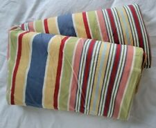 Pottery Barn Full / Queen Duvet Cover Multicolor Horizontal Striped 84�x86� Euc
