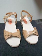 Womens Vista Spain Leather Strappy Slingback Ankle Strap 2 Buckle Sandals Shoes
