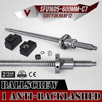 1 RM1605-600 SFU1605 Anti-backlashed Ballscrew&BF12/BK12 Top Pro Great WHOLESALE