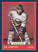 JIM LORENTZ 73-74 O-PEE-CHEE  1973-74 NO 75 EXMINT+ 1 DARK BACK