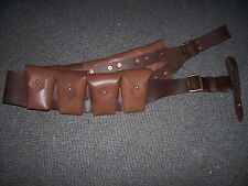 light horse 9 pouch Bandolier WWI 1903 Pattern Leather  Light horse Cavalry