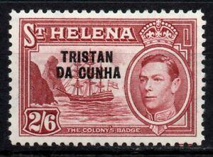 Tristan Da Cunha 1952 2s6d Maroon SG 10 MM