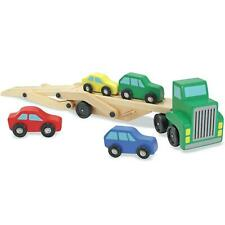 Melissa & Doug Wooden Transporter, Carrier Truck Toy Set with Cars/Vehicles, 3+