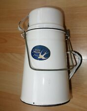 More details for vintage silver swallow enamel canister container -made in gb-