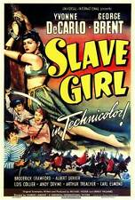 SLAVE GIRL Movie POSTER 27x40 George Brent Yvonne De Carlo Broderick Crawford