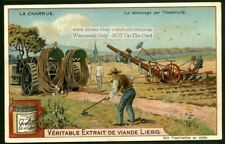 Antique Cable Farm Plow Field Charrue c1903 Trade Ad Card