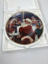 McDonalds Vintage Glass Collector Plate 1995 Well Deserved Break Santa Christmas