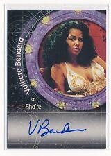 2001 STARGATE SG-1 AUTOGRAPH #A5 VAITIARE BANDERA AS SHA'RE AUTO