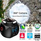 360° VR Panoramic Camera 4K Ultra HD 0.96'' Waterproof WiFi Digital Video DV