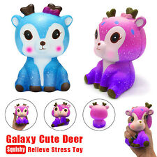 Kawaii Cartoon Galaxy Deer Squishy Slow Rising Cream Scented Stress Reliever Toy