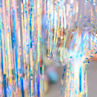 1M*2M Metallic Colorful Foil Tassel Curtain Stage Wall Adorn Party Wedding Shiny