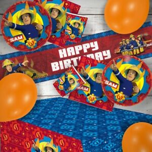 Fireman Sam Party Tableware (Cups, Plates, Napkins) Decorations, Bags & Balloons