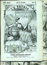 La Patria Geografia dell'italia UTET 1900 - dispense sfuse stato edicola / Mappe